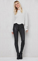NEW NWT PACSUN Coated Black Mid-Rise Skinniest Stretch Pants (C9) MSRP $59.95