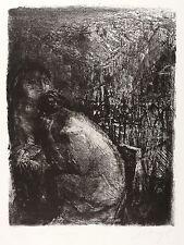 Johannes Heisig-a Georg Trakl-affondamento-LITOGRAFICO 1981