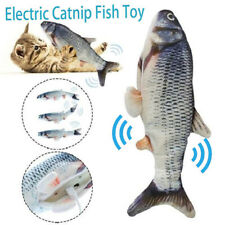 USB Electric Interactive Pet Cat Kitty Toy Wagging Fish Realistic Plush Catnip-