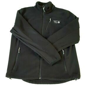 Mountain Hardware Mens Large Black Fleece Jacket Zip Up Soft Shell