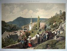 ALTENA sehr schöne Ansicht Farblithographie 1860 - Original!