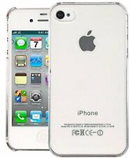Slim Clear Hard Plastic iPhone 4/4S Case Cover & Protector Set