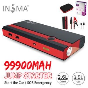 🔥 99900mAh Portable 12V Car Jump Starter Power Bank Booster USB Charger  !