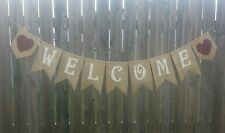 Welcome Burlap Banner