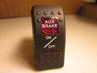 Aux Brake Rocker Switch on / off 12v 20amp Illuminated Camper RV Trailer V1D1