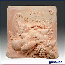 egbhouse, 2D, Soap and Candle Mold, Plaster mold, polymer clay mold,Thanksgiving