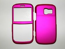 PANTECH LINK 7040 FOR AT&T SOLID HOT PINK RUBBERIZED COVER NEW