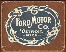 Ford Historic Logo Metal Tin Sign Wall Art