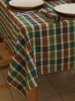 "54"" COUNTRY CHECK SQUARE TABLECLOTH (4 SEATER) / RURAL"