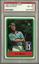1982 Donruss Golf #3 Tom Watson Graded PSA 8 NM-MT