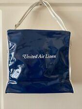 UNITED AIR LINES Vintage 1970s Airline Textile Mfg. Vinyl Flight Bag >RARE<