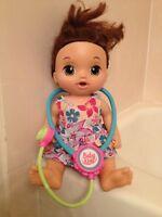 💜2016 Hasbro Baby Alive Sweet Tears Doll Interactive Baby Brunett & STETHOSCOPE