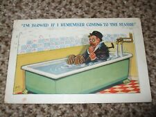 Vintage COMIC by A.E Drunk in bath BLOWED IF I REMEMBER COMING TO THE SEASIDE