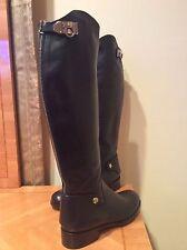 ICONIC CHIC NIB $1250 RARE Salvatore Ferragamo Knee-High Black/Silver RODI Boots