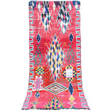 Vintage Runner Beni Ourain authentic Moroccan Berber boujaad rug 6.8 FT X 3 FT