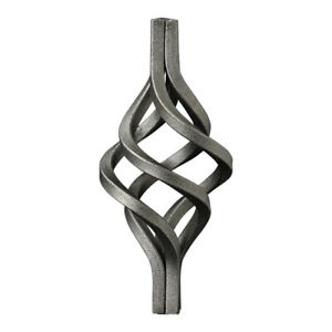 Wrought Iron Gate/Fence Components -Basket/Cage - Qty 50 -12x12mm Base 130x60mm