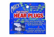 Macks MACK'S #15 Concert HEAR Plug High Fidelity Musician Earplug Loud Music 1pr