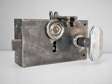 Ancienne Serrure de Porte Révisée,2 Clés + Poignées,Vintage 1930-40 ,Lock Door
