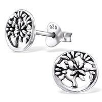 925 Sterling Silver Tree of Life Stud Earrings