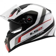 LS2 FF396 FORZA FIBRE GLASS HELMET WITH SUN VISOR & AIR-PUMP, RED, SIZE XL £139