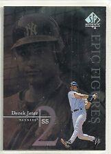 Derek Jeter 1999 SP Authentic New York Yankees Epic Figures Insert Card # E-18