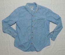 Pendleton Womens Denim Button Down Shirt Rockabilly Blouse Long Sleeve Sz Medium