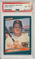 JOHN KRUK ROOKIE 1986 DONRUSS MLB CARD #42 PSA GRADED MINT 8 SAN DIEGO PADRES RC