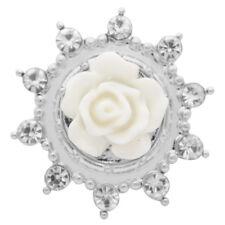 Button Click Klick Blume Kristall 20mm 7713 kompatibel mit Chunk Armband