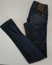 NEUF Jeans G-STAR RAW W25 L32 noir effet ciré coupe droite pantalon baggy slim