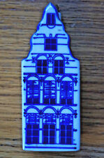 Delft Blue ELESVA CANAL Holland Ceramic House with stopper