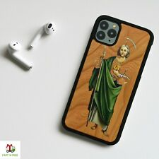For Samsung Galaxy S10 / Note 10 Plus Wood Wooden Phone Case Cover- San Judas