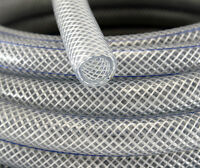 13mm Food Safe Clear Braided PVC Hose Pipe Tube Reinforced  Water Liquid Oil
