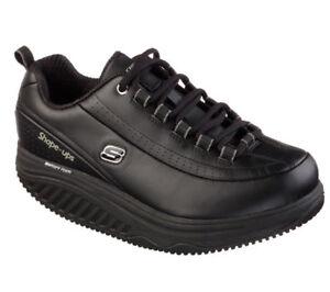 Skechers 76567 BLK Women's SHAPE-UPS - ELON SR Work Shape Ups