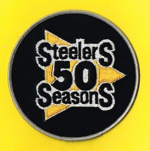 PITTSBURGH STEELERS 50th ANNIVERSARY 1982 BLACK HOME JERSEY NFL PATCH