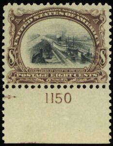 298, Mint XF NH 8¢ Canal Pl# Copy With PFC Certificate - Stuart Katz