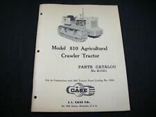 J l CASE 810 Agricultural AG Crawler Tractor Parts Book Manual Catalog A1021