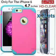 iPhone 6 Lady Case, [Lock-In Front/Back Full body Screen Protector] Slim Thin