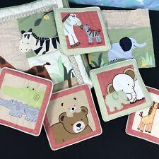 Lambs & Ivy Jungle Zoo Originals Baby Crib Comforter 5 Wall Hangings Valance 7PC