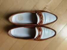 Vintage Florsheim Loafers Brown & White - Made in Italy 7.5 D