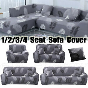 1/2/3/4 Seat Printed Stretch Sofa Cover Couch Slipcover Home Furniture Protector