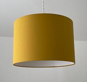 Lampshade Mustard Yellow Cotton Drum Light shade
