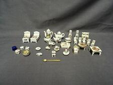 Large Collection Of LIMOGES Miniature Dolls House Furniture & Tea Sets