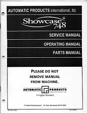 Automatic Products Showcase 748 Service, Operation, and Parts manual
