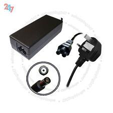 Cargador portátil para HP Compaq nc2400 nc4400 nc640065W + 3 Pin Cable De Alimentación S247