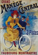 BICYCLE VINTAGE AD POSTER Manege Central RARE HOT NEW