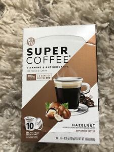 KITU SUPER COFFEE Hazelnut Enhanced Organic Dark Roast 10 Cups BB 3/21