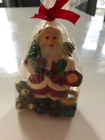 "Vintage Santa Clause Figurine Christmas Candle Rare And Old 4"" Long"