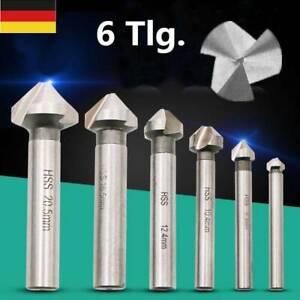 6tlg. HSS Kegelsenker Senker Senkbohrer Versenker Set Holz Metall 6,3-20,5mm DE