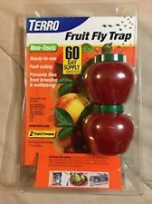 TERRO Fruit Fly Trap Non-Toxic Fly Prevention 2pk