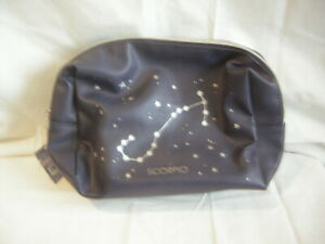 LADIES BLUE WASH /MAKE UP BAG WITH SCORPIO ON IT  BRAND NEW WITH TAGS